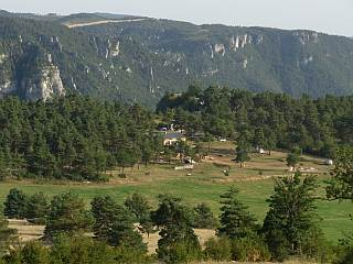 Overhanging Gorges du Tarn, the Camp-site of Cassaduc